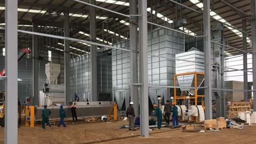 Feed mill for TH Group Vietnam. Milling project